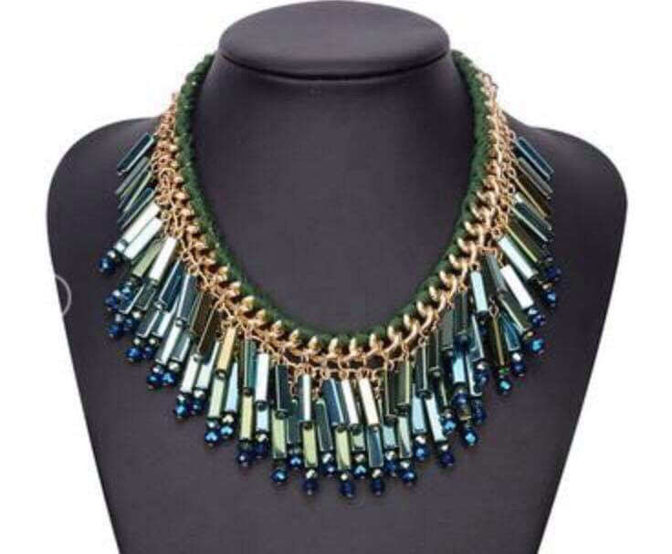 Chloe Green Shimmer Necklace