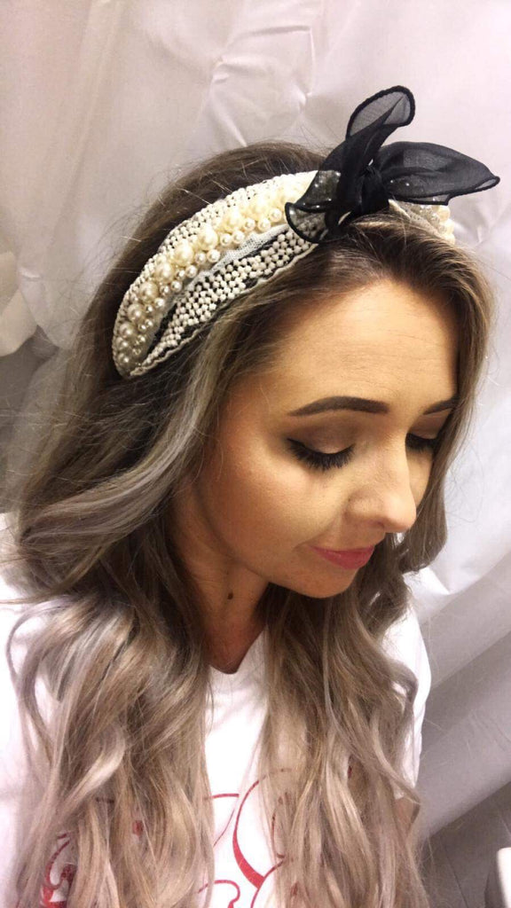 Hannah Pearl Lace Hairband