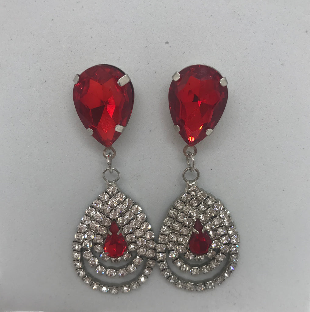 Savannah Red Earrings