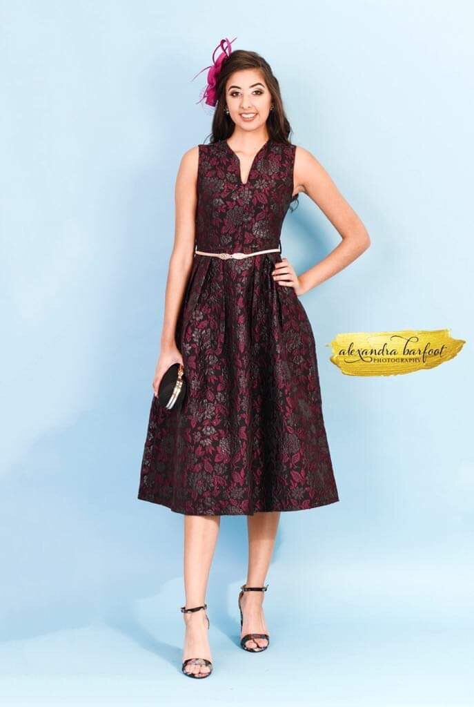 Abbie Jacquard Print Dress