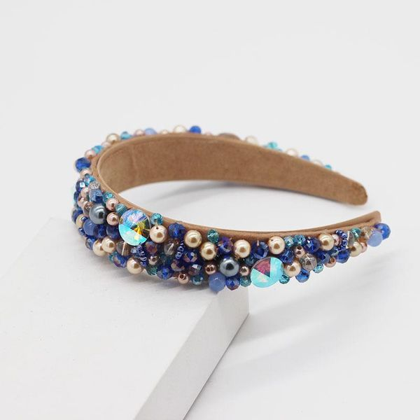 Moon Beaded Blue Hairband