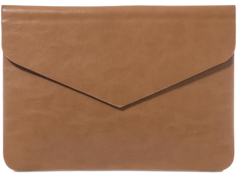 Tan Flap Clutch
