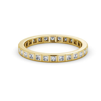 Full Eternity Ring, Round Cut Vintage Design