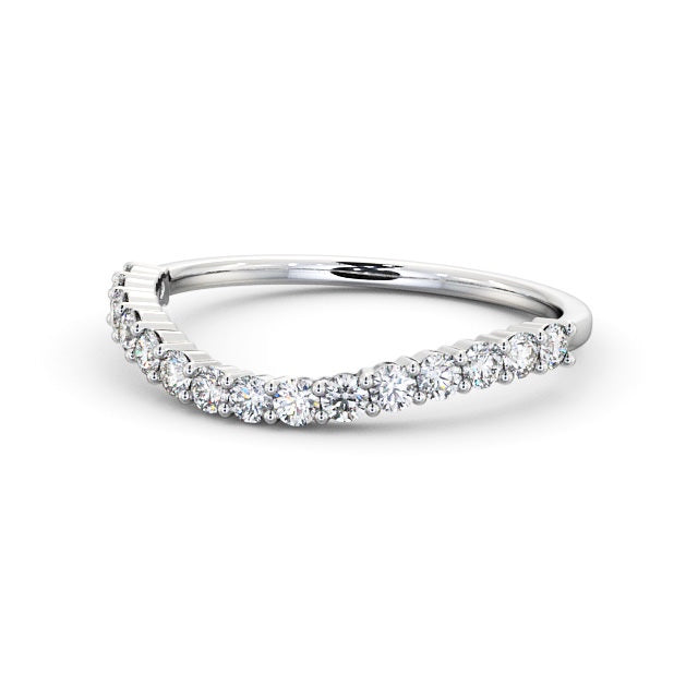 Half Eternity Ring, Round Cut Shaped Design