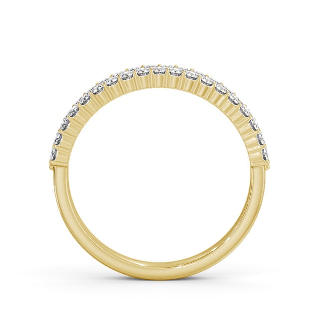 Half Eternity Ring, Round Cut Double Row
