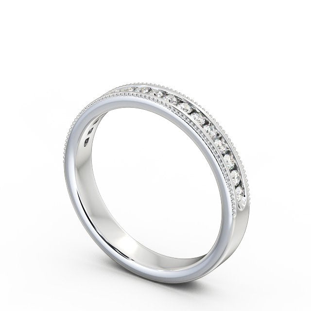 Half Eternity Ring, Round Cut With Migrain Edge