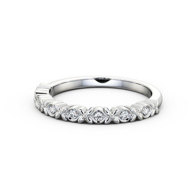 Half Eternity Ring, Cherry Blossom Vintage Design