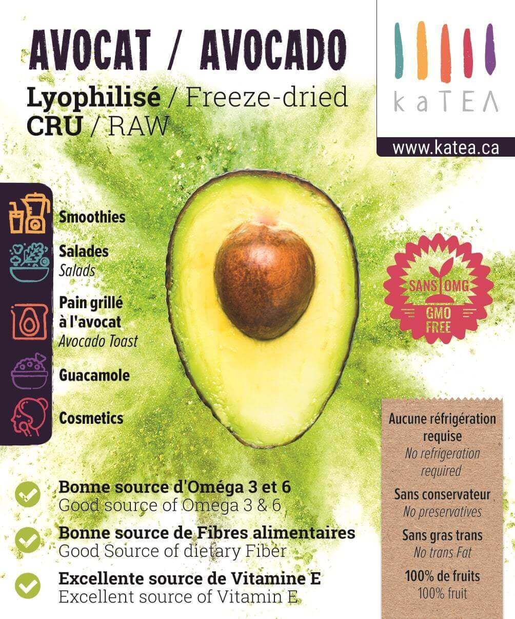 Freeze-dried Avocado Powder