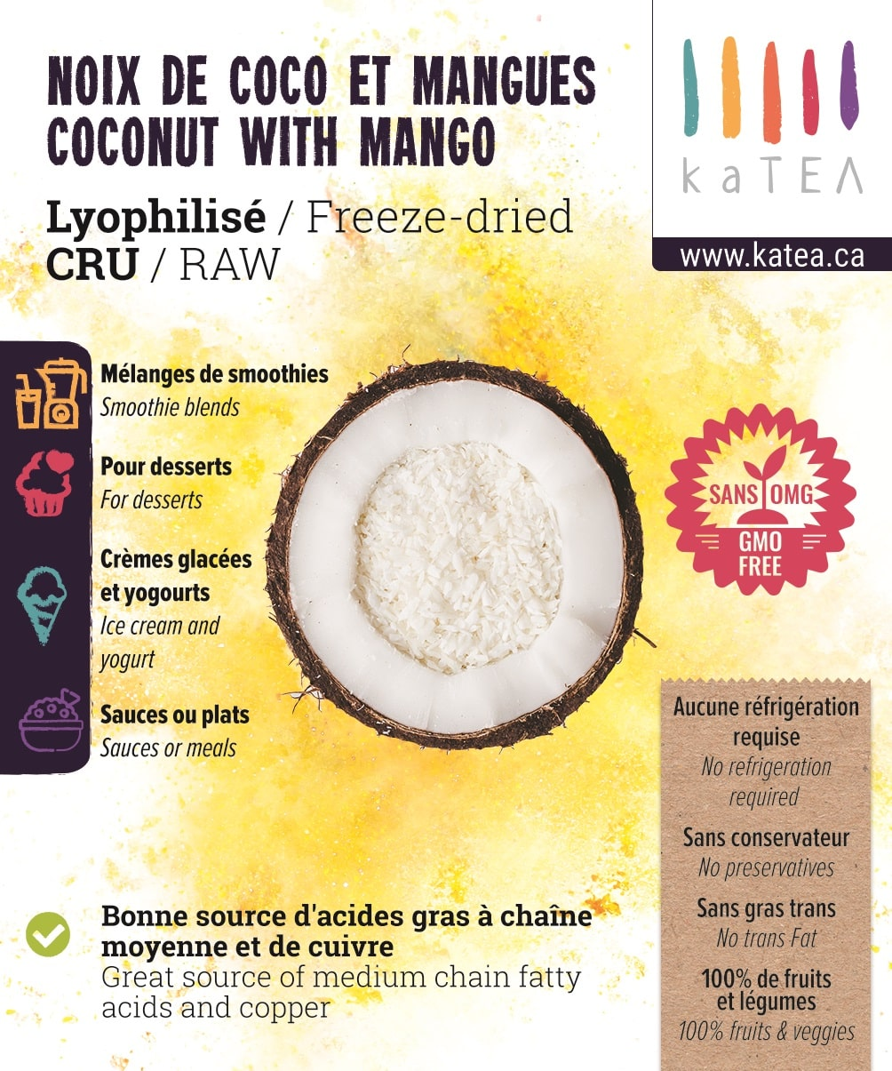 Freeze-dried Coconut with Mango Powder