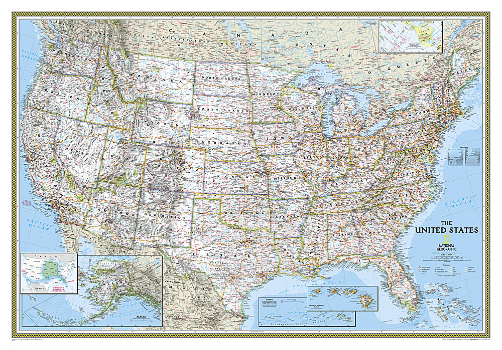 National Geographic United States Political Map