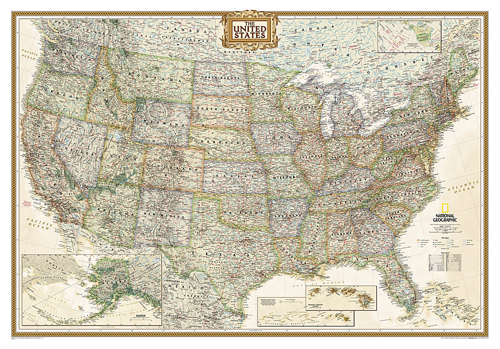 National Geographic United States Executive Map