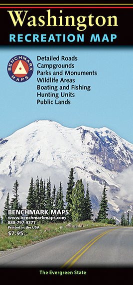 Washington Recreation Map: Benchmark Maps