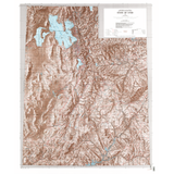 Shaded Relief Map of Utah (USGS)