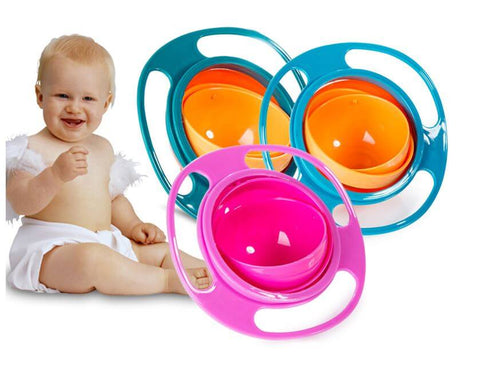 360 Rotating Spill Proof Baby Feeding Bowl - Infant Kingdom