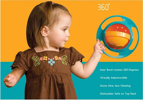360 Degree Rotating Baby Feeding Bowl - Infant Kingdom