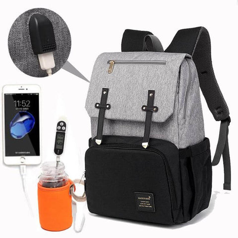 Baby Diaper Bag With USB Warmer Cup - Infant Kingdom