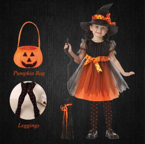 Halloween Witch Toddlers Girls Dress - Infant Kingdom