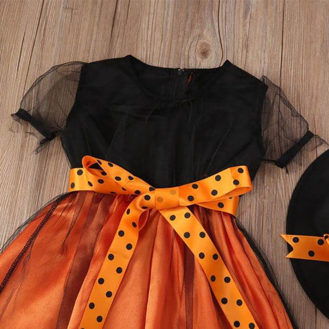 Halloween Witch Orange Dress - Infant Kingdom