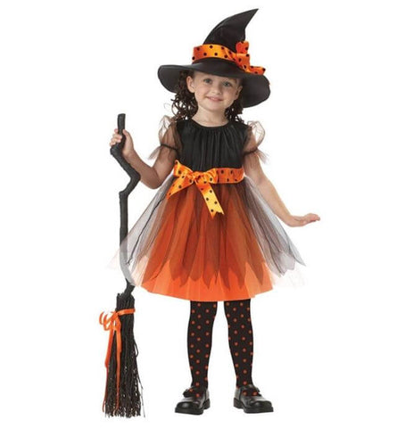 Halloween Toddler Witch Girls Dress - Infant Kingdom