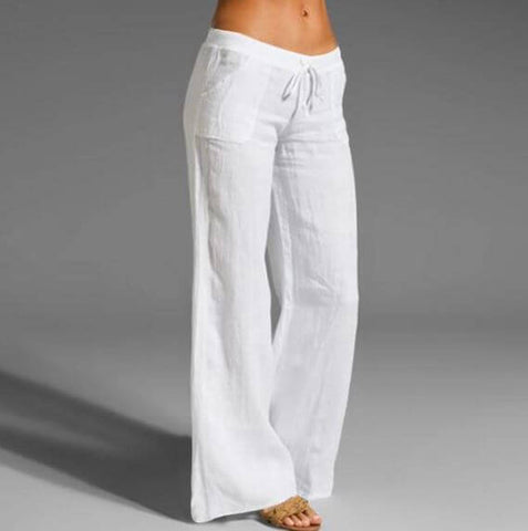 Linen Casual Trousers For Women - Infant Kingdom