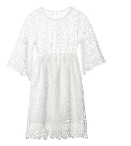 Matching Mum Baby Girl White Party Dresses - Infant Kingdom