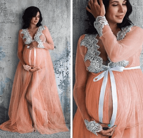 Maternity Photography Lace Gown - Infant Kingdom