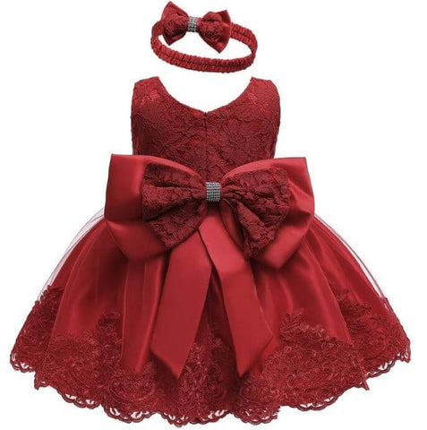Red Christmas Party Dress for Babies - Infant Kingdom