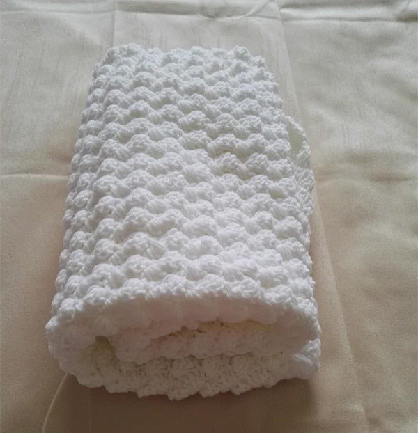 Handmade Crochet Baby Christening Blanket - Infant Kingdom