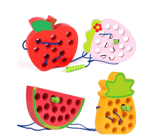 Montessori Threading Fruits Wooden Toys - Infant Kingdom