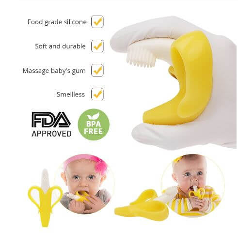 Baby Teether and Toothbrush Toy All in one - Infant Kingdom