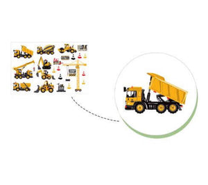 Construction Vehicle Wall Stickers Kids Room Decor - Infant Kingdom