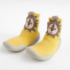 Happy Feet Toddler Baby Socks With Rubber Soles - Infant Kingdom