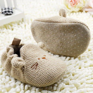 Baby First Walker Elastic Mice Soft Sole Slip-On Shoes 0-18 M - Infant Kingdom