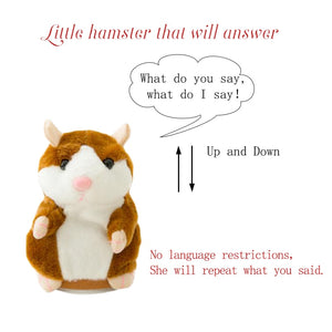 Repeated Talking Hampster Plush Baby Toy - Infant Kingdom