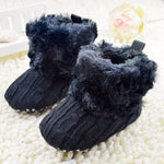 Baby Ankle Crochet Knit Fleece Snow Boots - Infant Kingdom