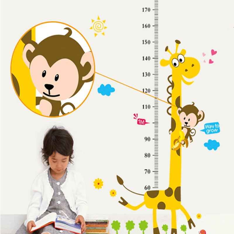 Giraffe Kids Height Ruler Wall Sticker - Infant Kingdom