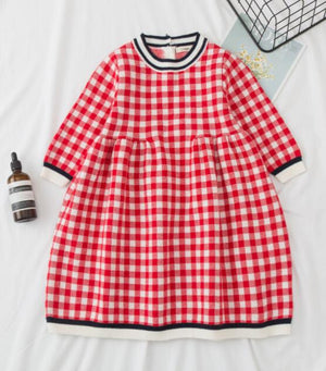Winter Collection Baby Girls Sweater Dress+Cap 2pcs + Toddler Girls Tights 0-5yrs - Infant Kingdom