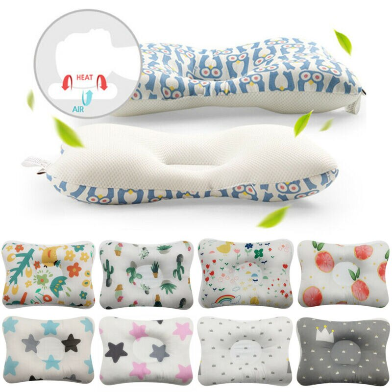 Newborn Baby Air Mesh Cotton Anti-flat Head Pillow - Infant Kingdom