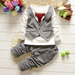 Baby Boy Children's Gentleman's Tie Vest + Pants Two-piece Suit - Infant Kingdom