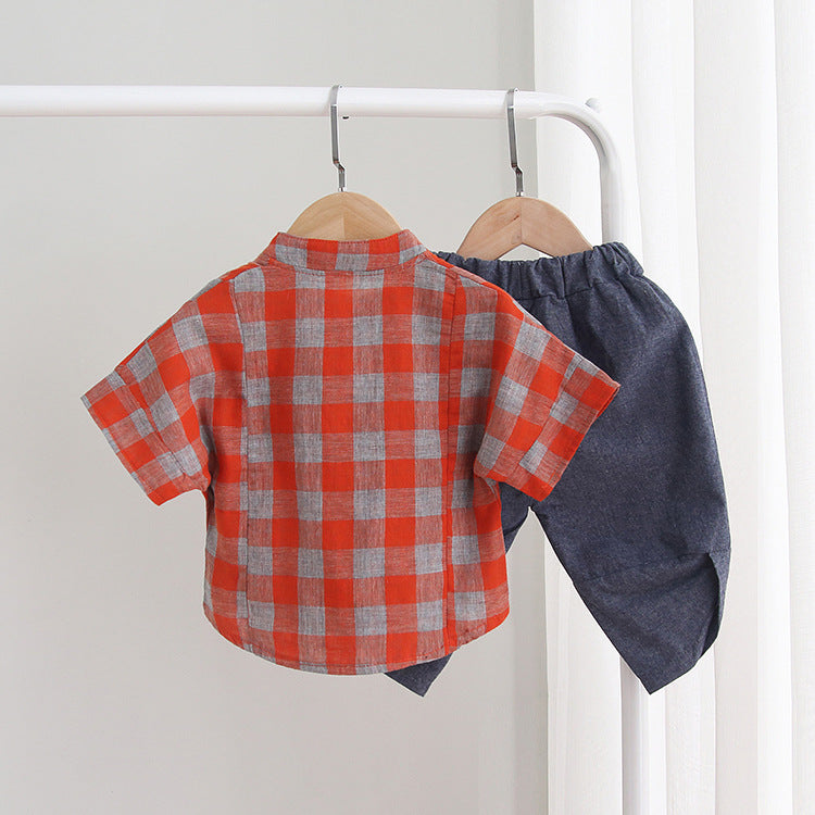 Linen Baby Boy Casual Shirt + Short - Infant Kingdom