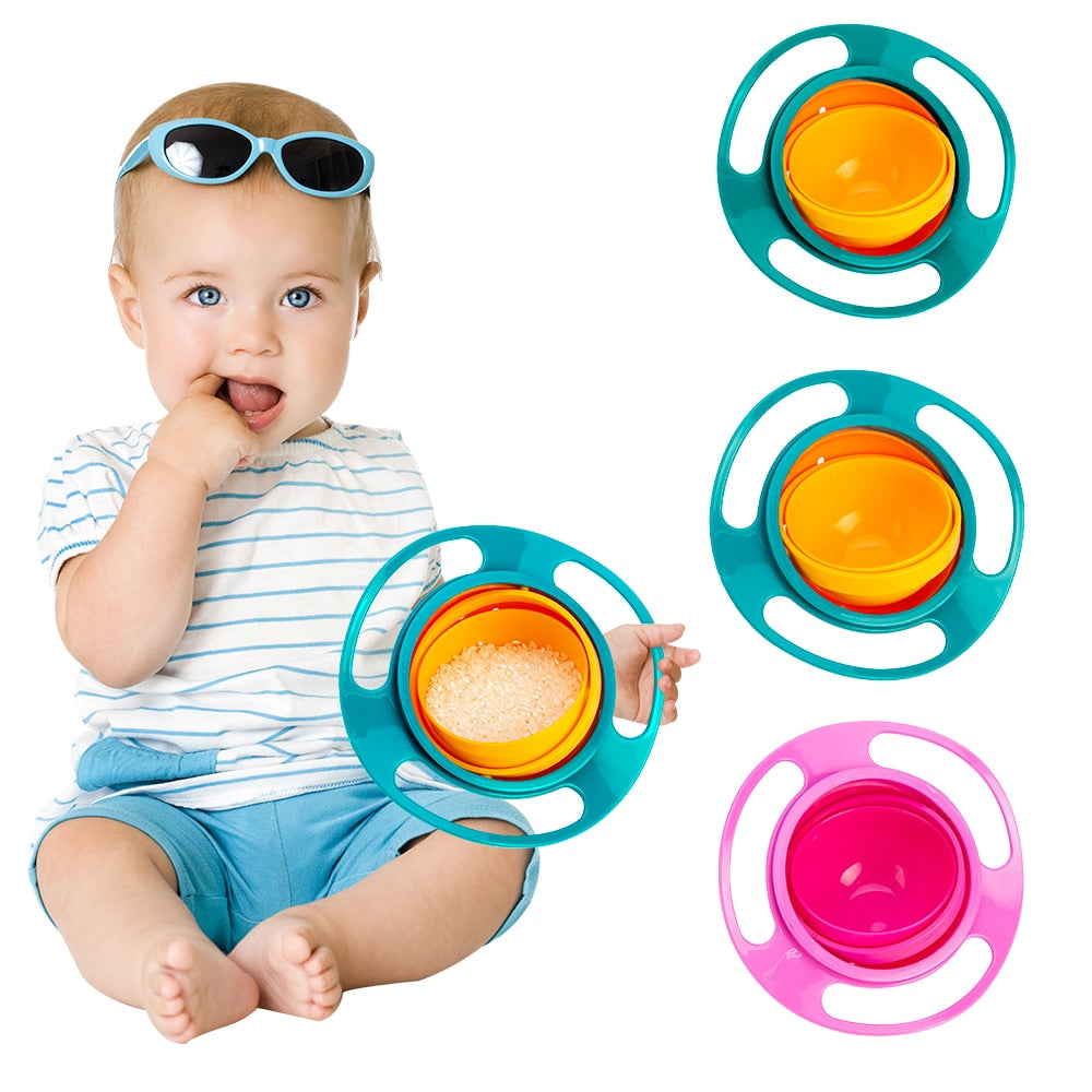360 Rotating Spill-Proof Baby Feeding Bowl - Infant Kingdom