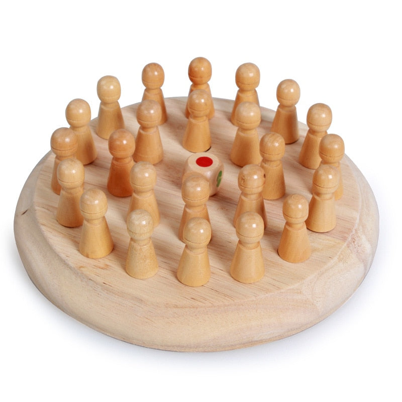 Kids Wooden Memory Match Stick Chess Game - Infant Kingdom