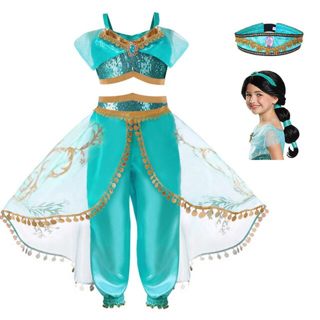 Princess Jasmine Aladdin's Lamp Children's Cosplay Costumes - Infant Kingdom