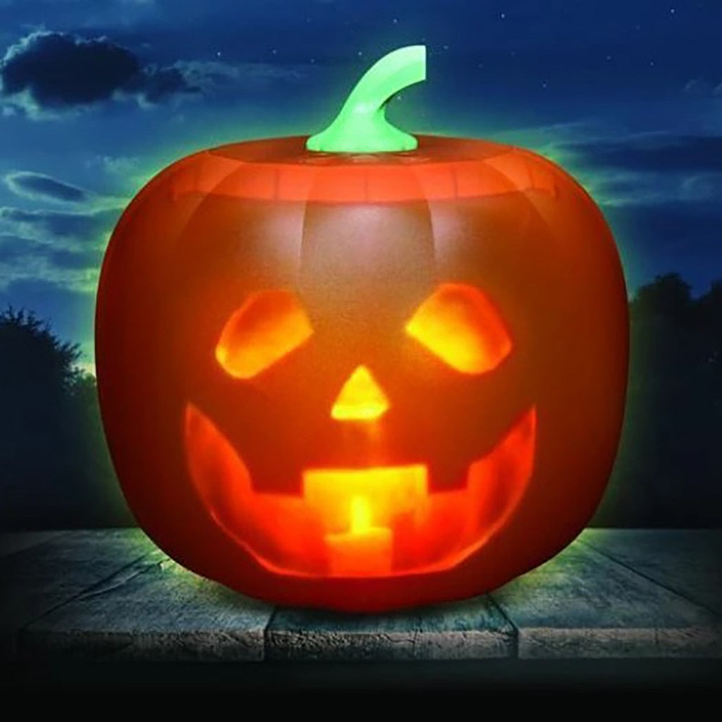 Glow In The Dark Animated Halloween Pumpkin Toy - Infant Kingdom