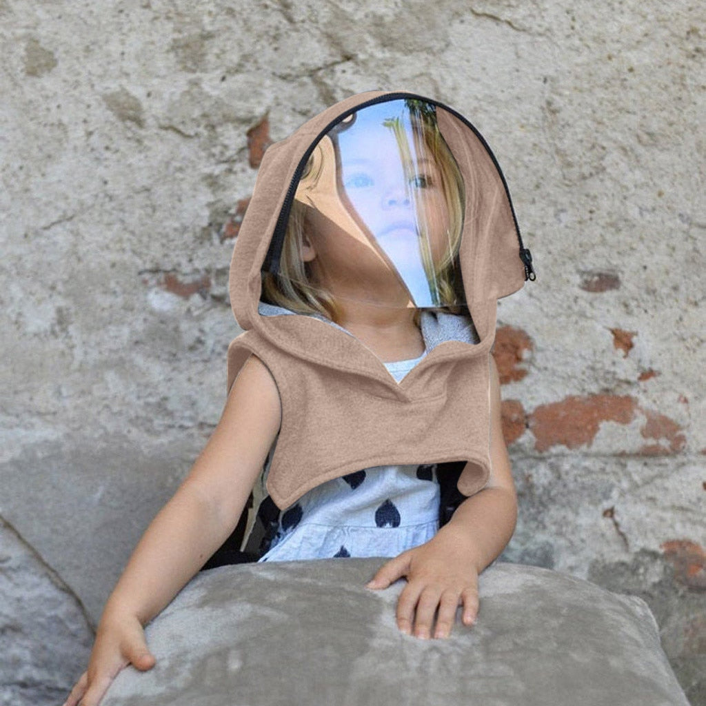 Kids Washable Hooded Transparent Face Shield