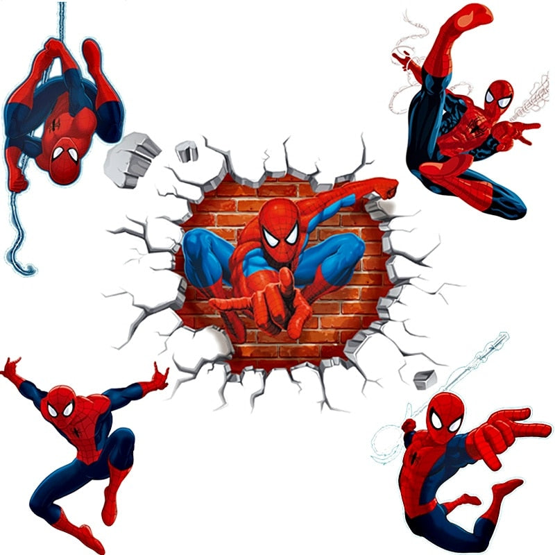 3D Effect Hero Spiderman Wall Stickers for Kids Rooms - Infant Kingdom