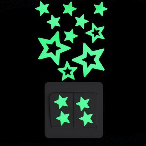 Cartoon Glow in the Dark Baby Nursery Decor Wall Switch Sticker - Infant Kingdom