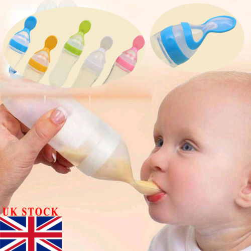 Pureed Food Baby Feeder Bottle With Spoon - Infant Kingdom