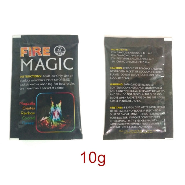 Colourful Flames Magic Dust Sachets - Infant Kingdom