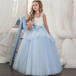 Princess Party Dresses Wedding Flower Girls Long Gowns 6-14yrs - Infant Kingdom